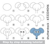 kid game to develop drawing... | Shutterstock .eps vector #653334046