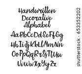 vector alphabet. handwritten... | Shutterstock .eps vector #653352202