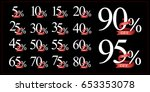 discount collection 5 10 15 20... | Shutterstock .eps vector #653353078
