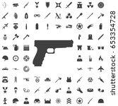 pistol gun icon vector... | Shutterstock .eps vector #653354728