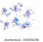 set of colorful abstract... | Shutterstock .eps vector #653356258