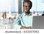 dark skinned stylish young...   Shutterstock . vector #653357092