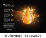 yellow liquid oil drop. vector... | Shutterstock .eps vector #653360896