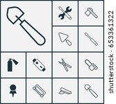 tools icons set. collection of... | Shutterstock .eps vector #653361322
