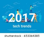 2017 tech trends concept... | Shutterstock .eps vector #653364385