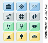 season icons set. collection of ... | Shutterstock .eps vector #653364562