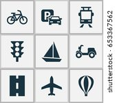 transport icons set. collection ...