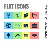 icons set. collection of video  ... | Shutterstock .eps vector #653368162