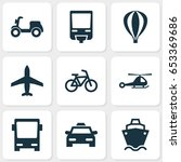 transport icons set. collection ... | Shutterstock .eps vector #653369686