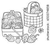 Strawberries In Baskets Cartoon ...