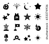 star icons set. set of 16 star... | Shutterstock .eps vector #653374936