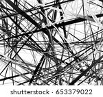 edgy texture with chaotic ... | Shutterstock .eps vector #653379022
