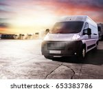 transport truck ready to... | Shutterstock . vector #653383786