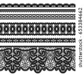 realistic lace ribbons  set of... | Shutterstock . vector #653384662
