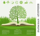 ecology info graphics modern... | Shutterstock .eps vector #653390008
