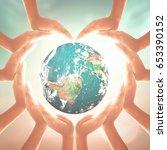 world environment day concept ... | Shutterstock . vector #653390152