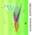 alphabet v template pattern | Shutterstock .eps vector #653391508