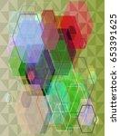 gem texture background | Shutterstock .eps vector #653391625