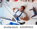unsafe behavior concept with... | Shutterstock . vector #653399422