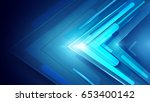 blue abstract arrows sign... | Shutterstock .eps vector #653400142