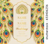 wedding invitation card... | Shutterstock .eps vector #653406256
