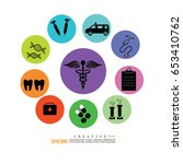 set of medical icon.vector... | Shutterstock .eps vector #653410762