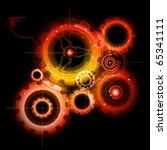 glowing techno gears | Shutterstock .eps vector #65341111
