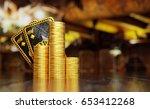 texas hold'em hand on two black ... | Shutterstock . vector #653412268