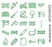wood icons set. set of 25 wood... | Shutterstock .eps vector #653418352