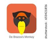 Cute De Brazza' S Monkey Face...