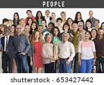 group of diversity people... | Shutterstock . vector #653427442