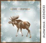 bright winter christmas...   Shutterstock .eps vector #65343433