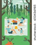picnic illustration   Shutterstock .eps vector #653436985