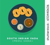 south indian vada vector... | Shutterstock .eps vector #653440636