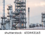 oil refinery plant. power and... | Shutterstock . vector #653443165