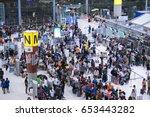 bangkok   feb 9  many... | Shutterstock . vector #653443282