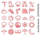 weather icons set. set of 25... | Shutterstock .eps vector #653443426