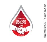 world blood donor day june 14 | Shutterstock .eps vector #653446642
