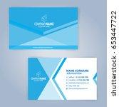 blue and white modern business... | Shutterstock .eps vector #653447722