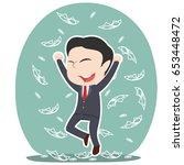 asian businessman raining money | Shutterstock .eps vector #653448472