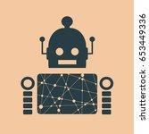 cute vintage robot. robotics...   Shutterstock .eps vector #653449336