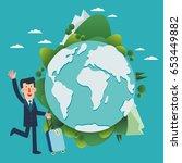 international business travel.... | Shutterstock .eps vector #653449882