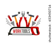 work tools or toolkit icon for... | Shutterstock .eps vector #653450716
