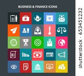 business and finance icons | Shutterstock .eps vector #653451232