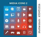 media icons | Shutterstock .eps vector #653451316