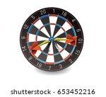 darts hitting a target  vector... | Shutterstock .eps vector #653452216