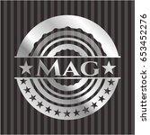 Mag Silver Shiny Badge