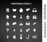 christmas icons | Shutterstock .eps vector #653453968