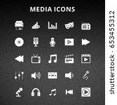 media icons | Shutterstock .eps vector #653455312