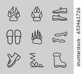 foot icons set. set of 9 foot... | Shutterstock .eps vector #653461726
